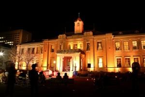 山口県政資料館ライトアップ