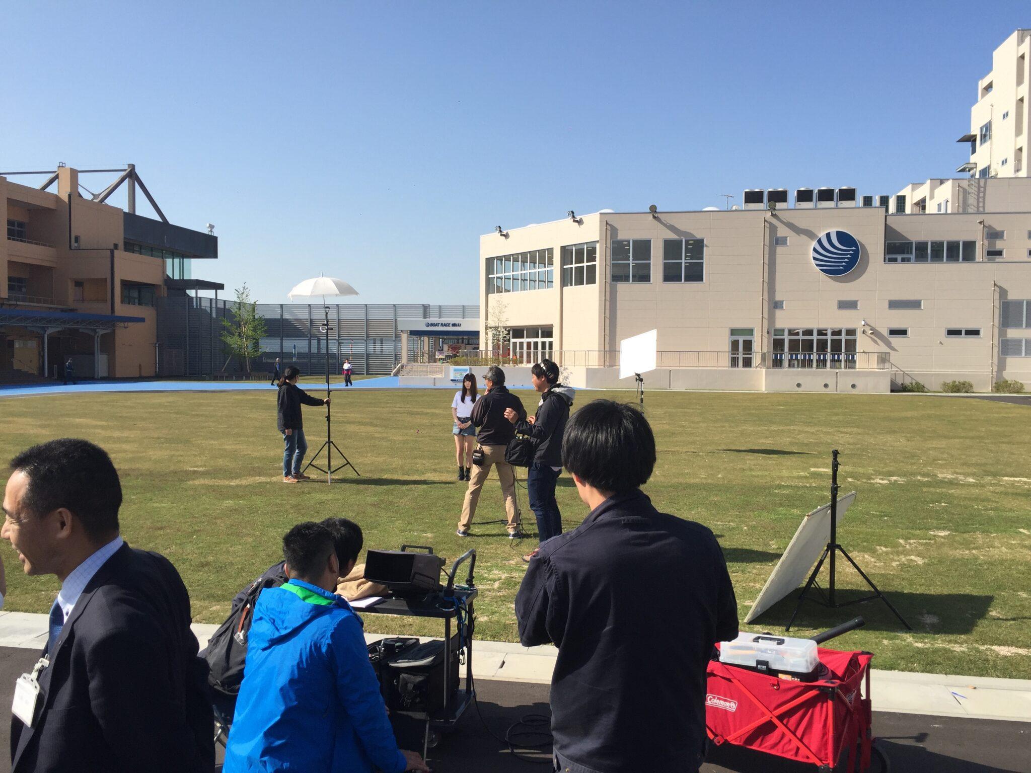 テレビ撮影照明-徳山ボート