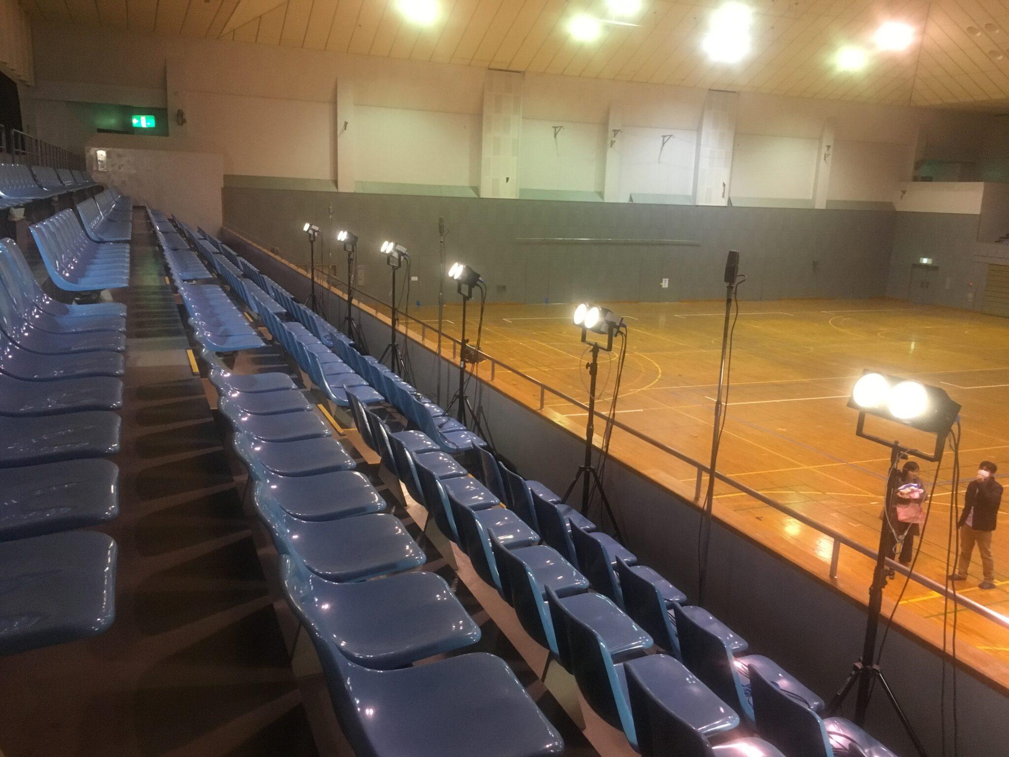 テレビ撮影照明-体育館