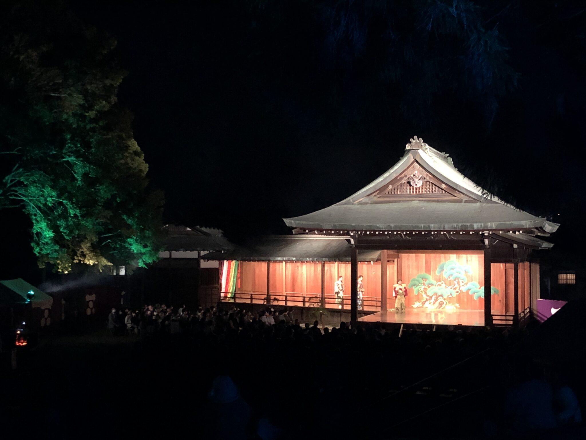 2021.10.2-3 野田神社能楽堂ライトアップ